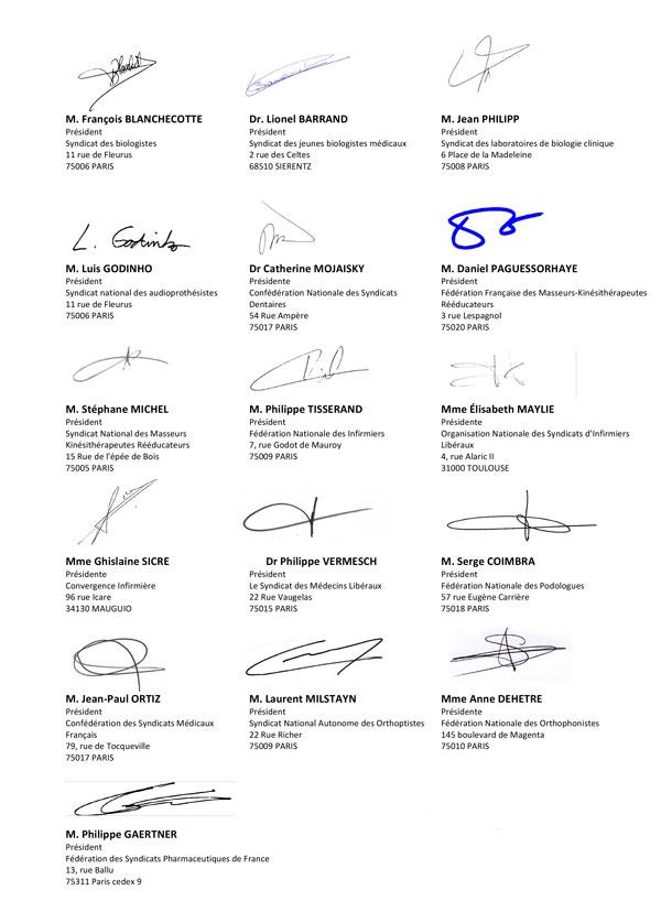 16 signataires